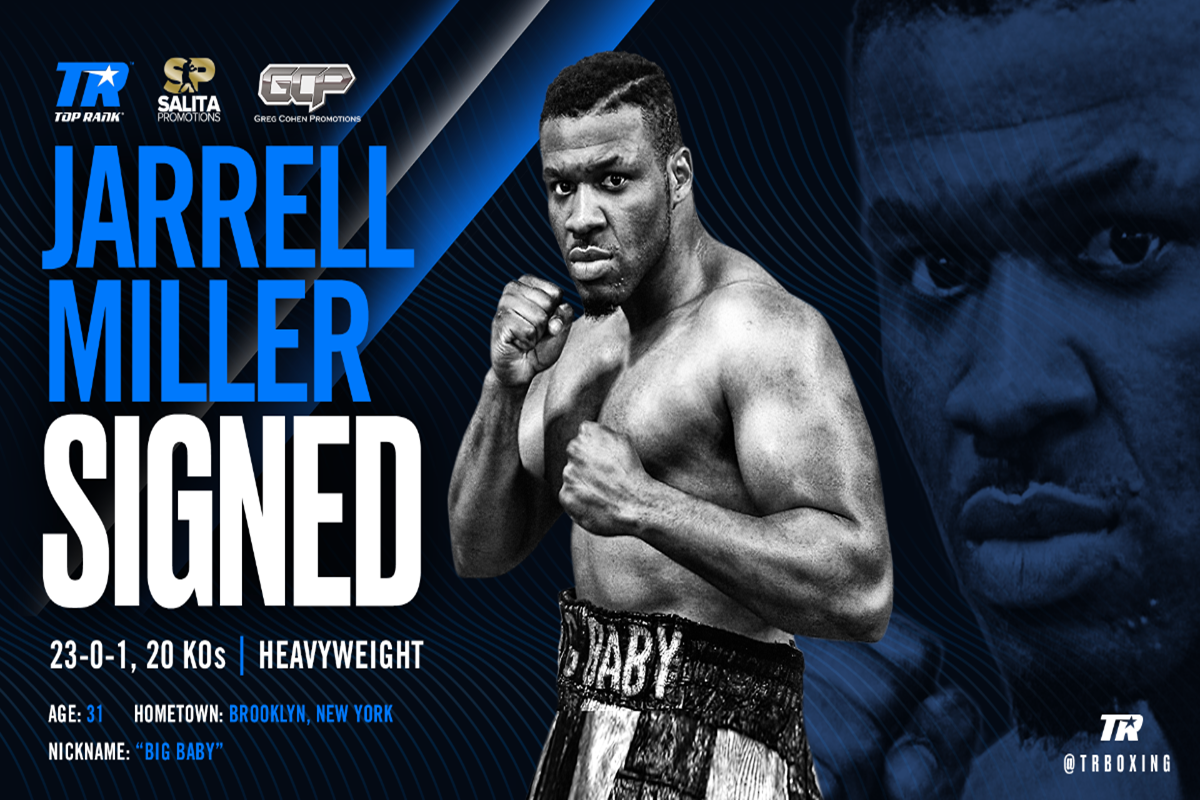 Big Baby Miller signing for Top Rank was celebrated