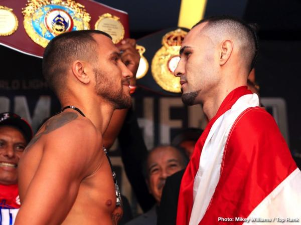 Vasiliy Lomachenko And Jose Pedraza Make Weight In New York