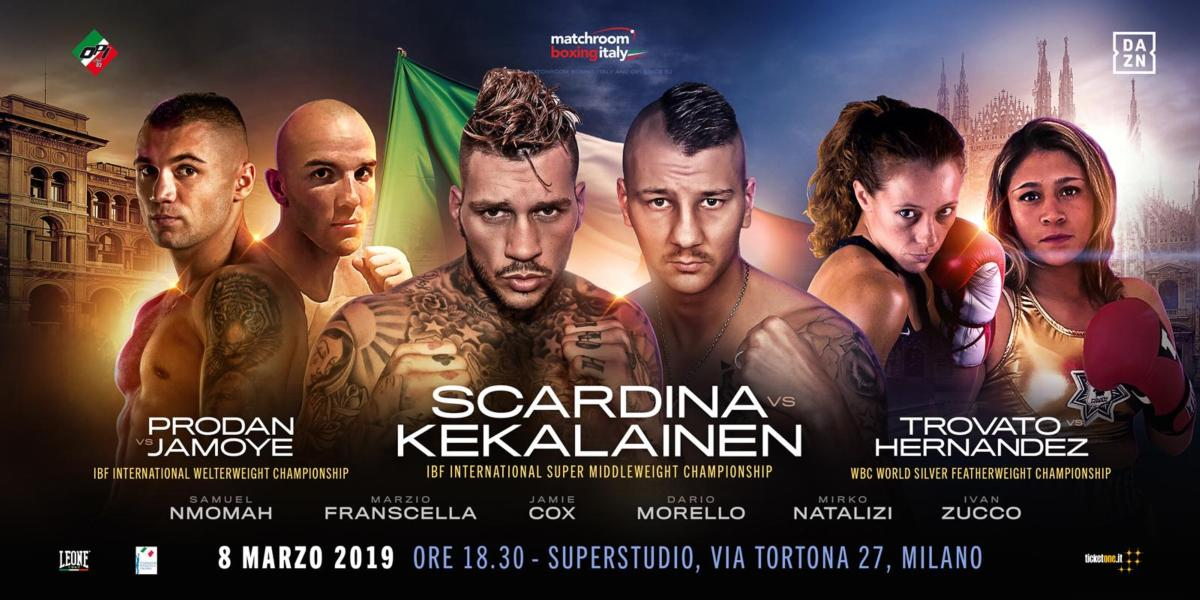 Three Title Fights Announced For Milan, March 8