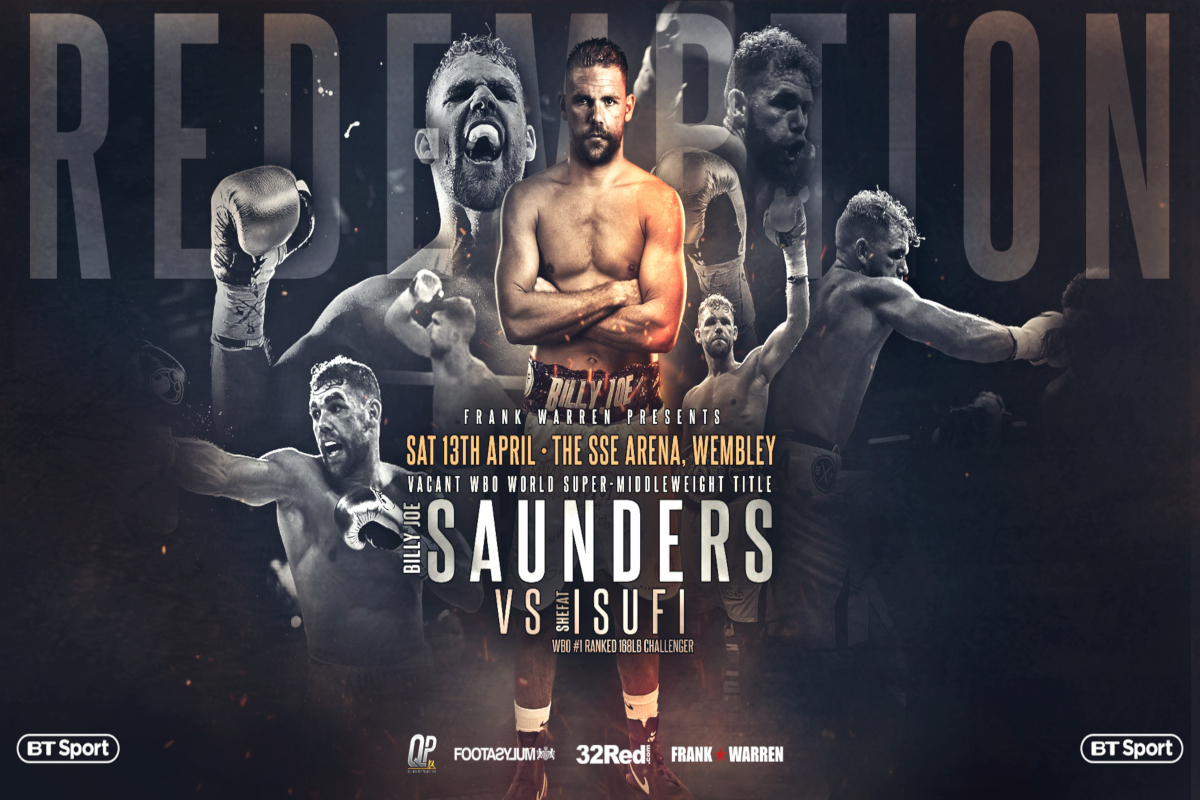 Billy Joe Saunders To Contest Vacant WBO Super Middleweight Title Against Shefat Isufi