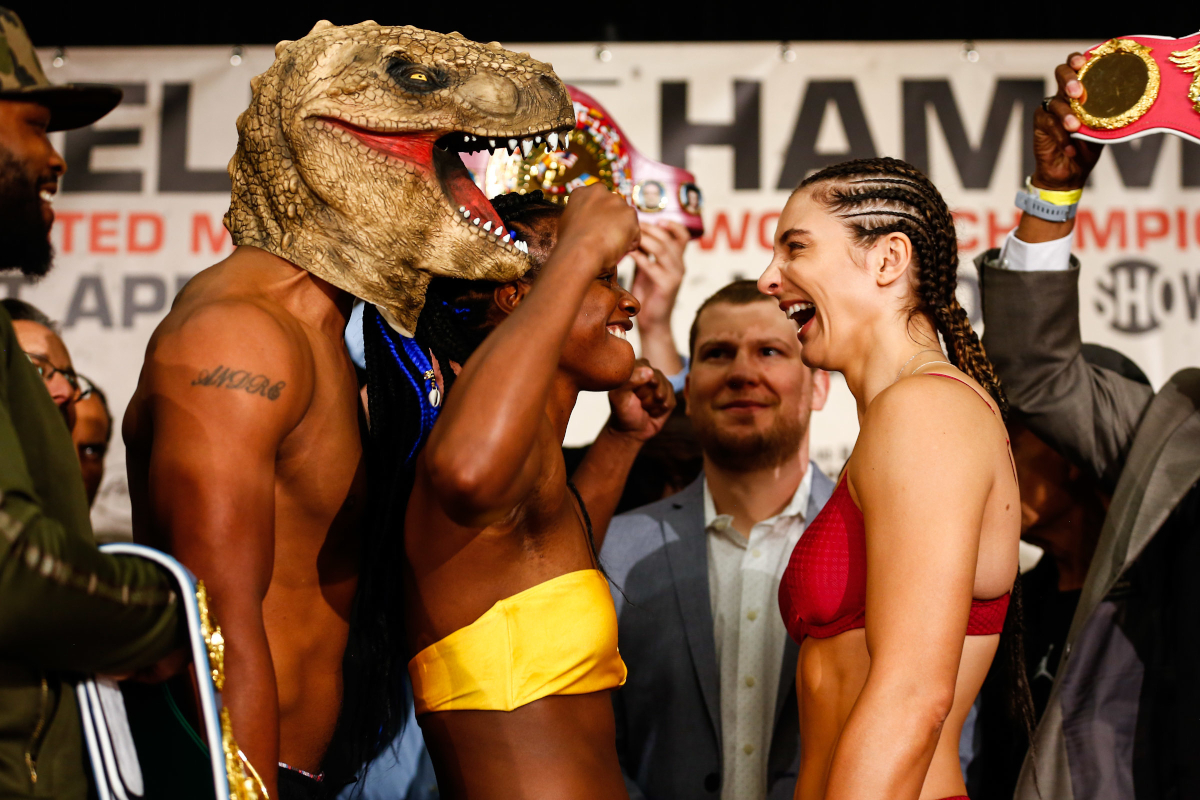 Shields And Hammer Make Weight Ahead Of Historic Female Battle