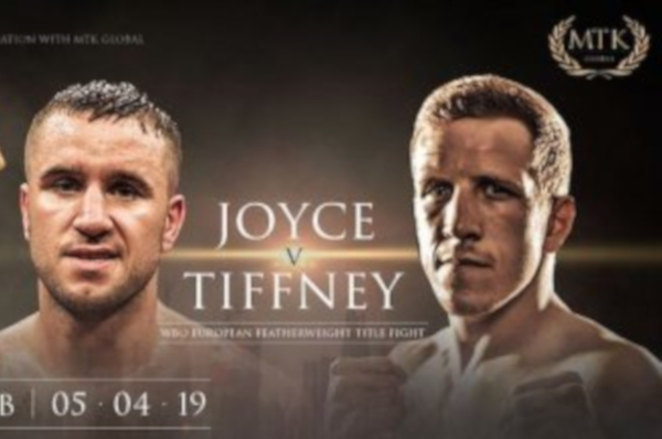 David Oliver Joyce vs Stephen Tiffney fight time, date, TV channel, undercard and venue
