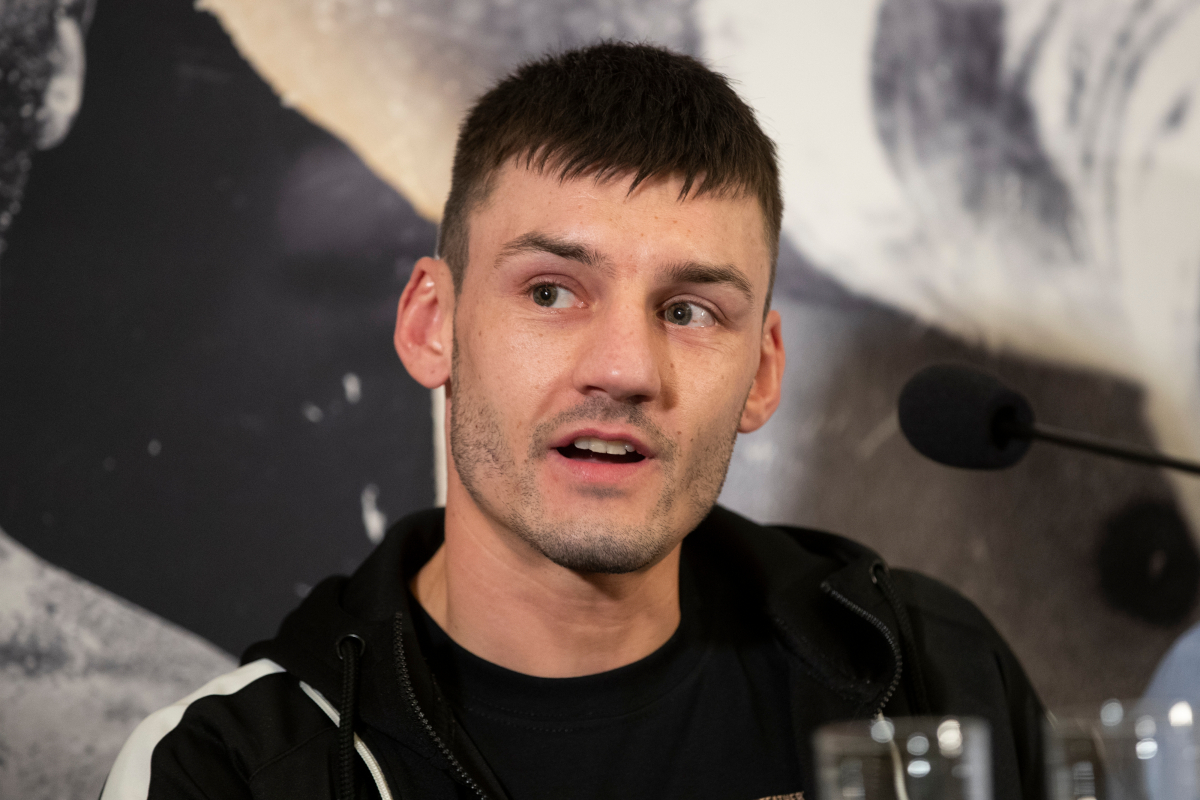 Leigh Wood by Mark Robinson/Matchroom Boxing
