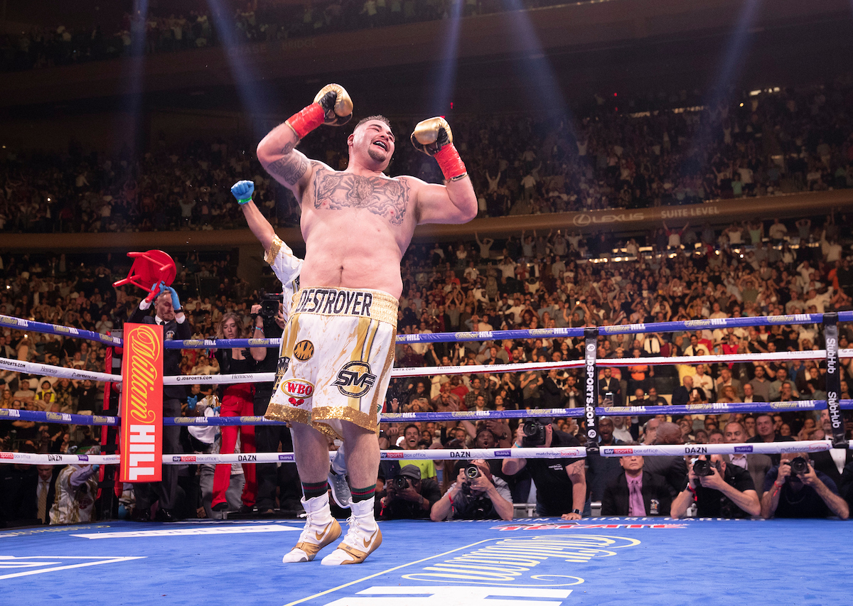 Andy Ruiz Jr by Mark Robinson/Matchroom Boxing