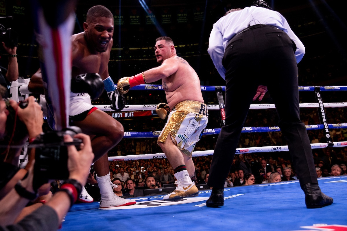 Andy Ruiz Jr dethrones the four-inches-taller Anthony Joshua