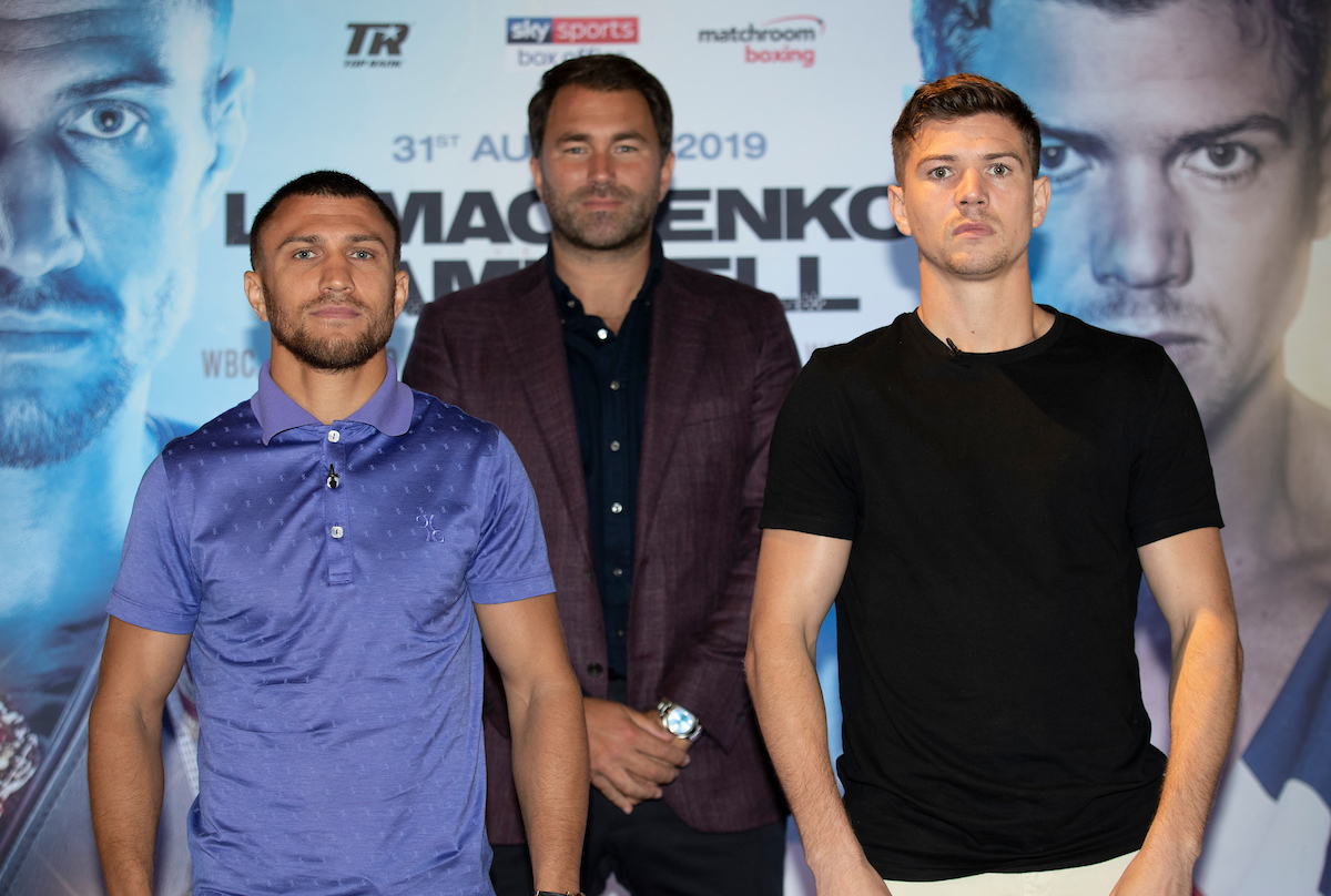 Lomachenko vs Campbell is on August 31 (Mark Robinson/Matchroom)