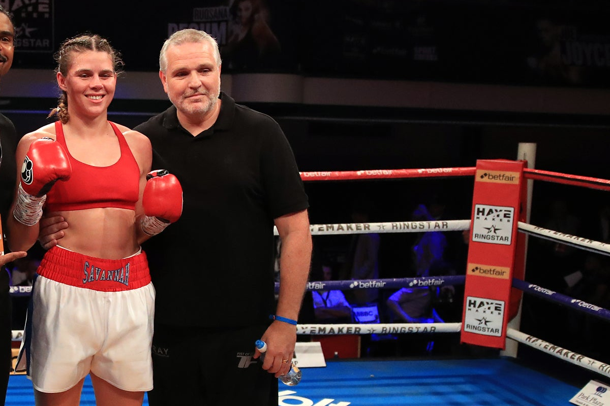 Savannah Marshall with Peter Fury