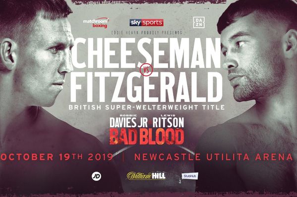 Ted Cheeseman vs Scott Fitzgerald confirmed: champ claims he's the underdog