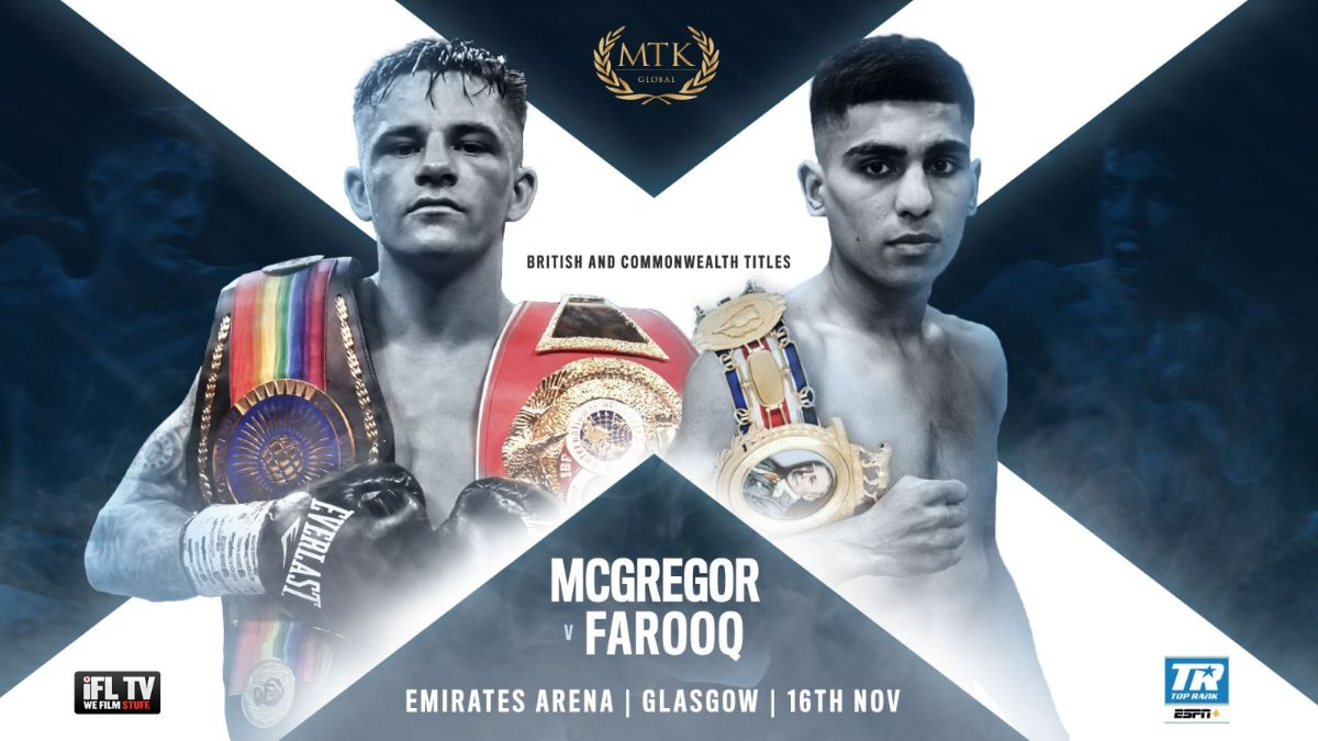 Lee McGregor vs Kash Farooq