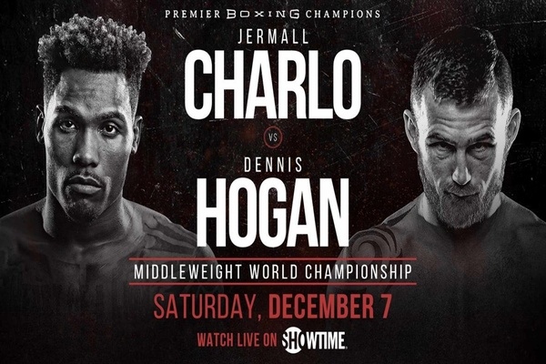 Jermall Charlo wins by stoppage over Dennis Hogan, Chris Eubank declared winner in co-main