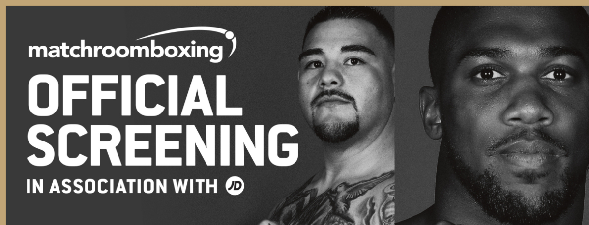 Andy Ruiz vs Anthony Joshua 2 tickets for screening on sale tomorrow