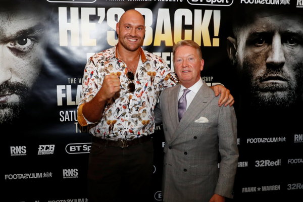 Tyson Fury Behind The Mask autobiography best seller praised by Frank Warren, predicts unified title win