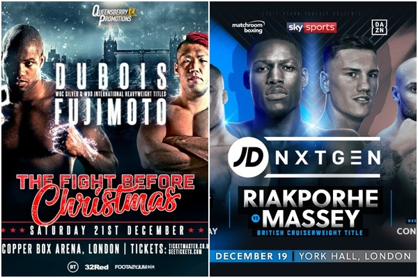 Dubois vs Fujimoto Frank Warren show & Matchroom Boxing Riakporhe vs Massey: Who wins Christmas?