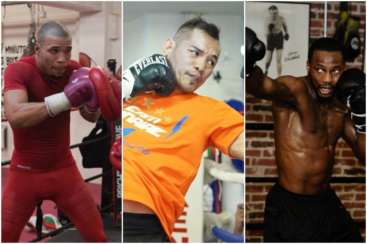 Chris Eubank Jr, Nonito Donaire and Chad Dawson (l-r)