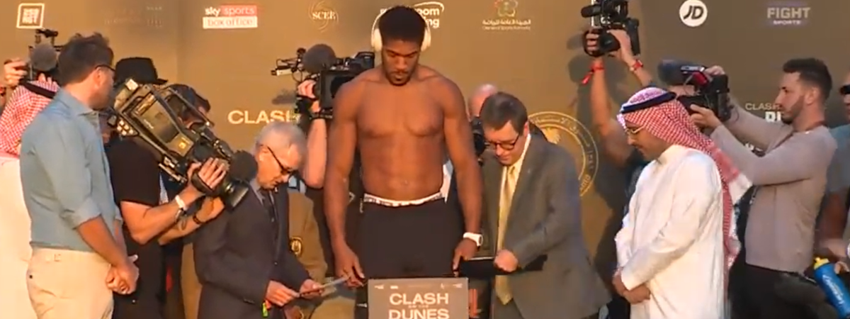 Andy Ruiz vs Anthony Joshua 2 weigh-in: all the weights as AJ lightest in 5 years, Ruiz puts on weight!
