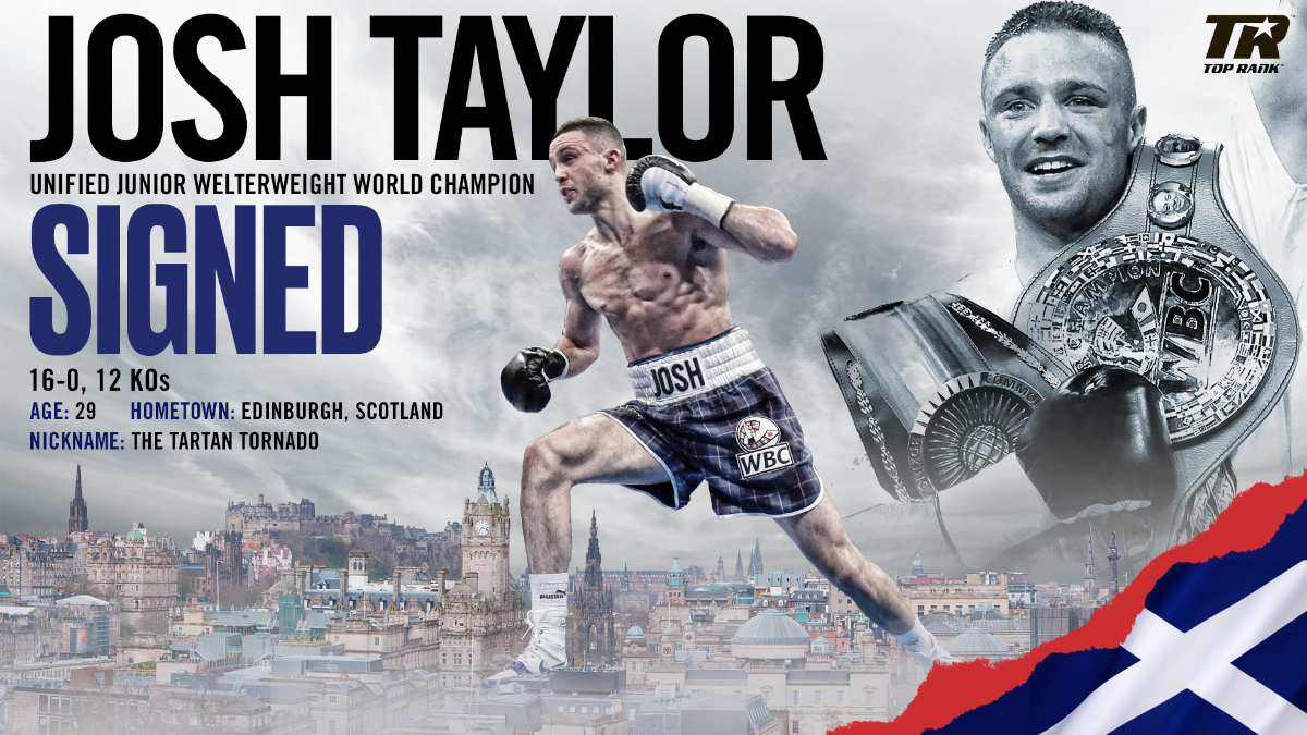 Josh Taylor is now a Top Rank fighter