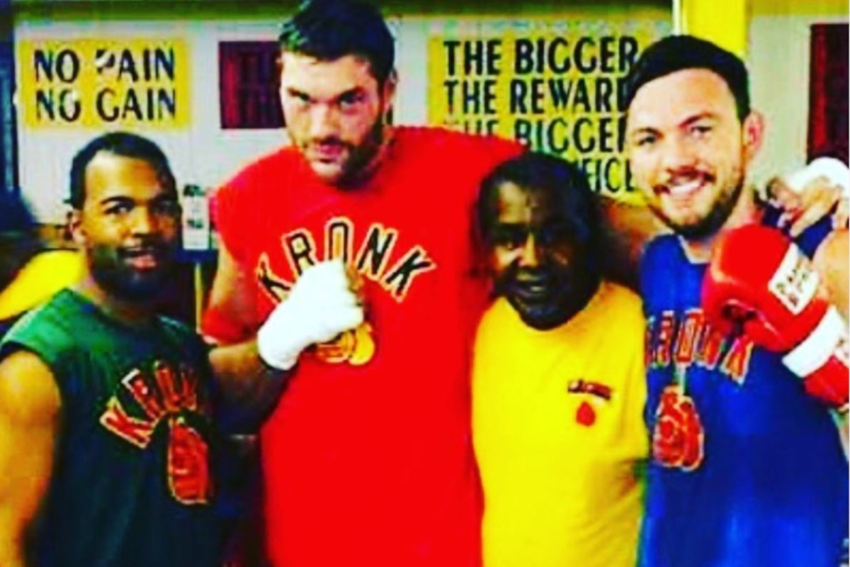 SugarHill Steward, Tyson Fury, Emanuel Steward and Andy Lee