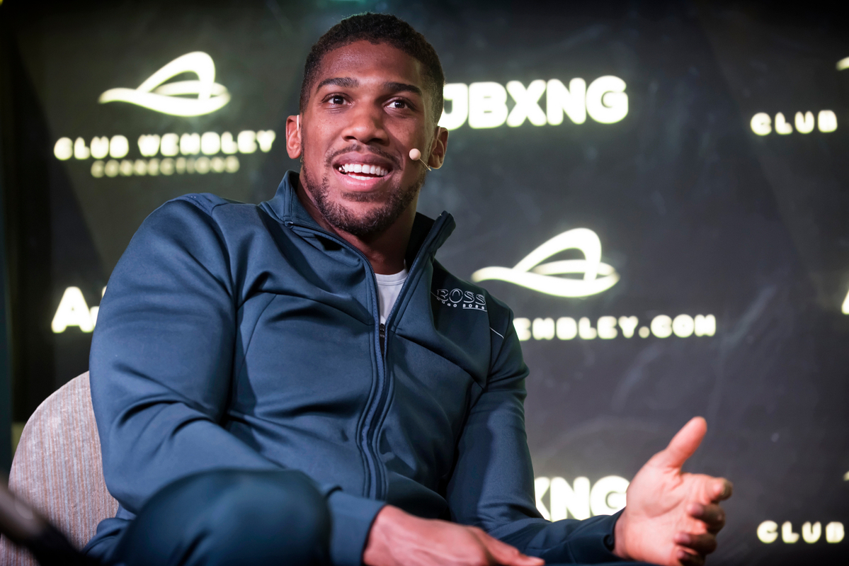 Anthony Joshua at a Club Wembley event