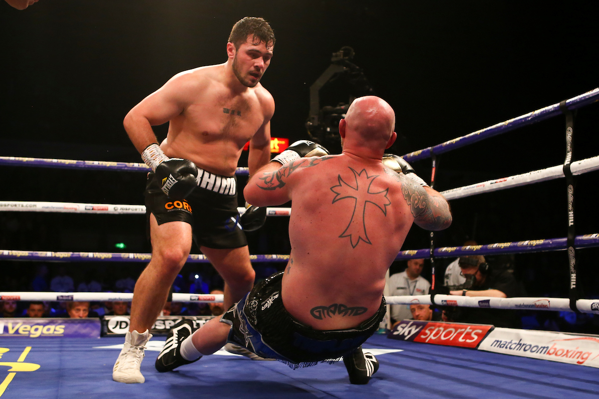 Dave Allen vs Dorian Darch (Dave Thompson/Matchroom Boxing)
