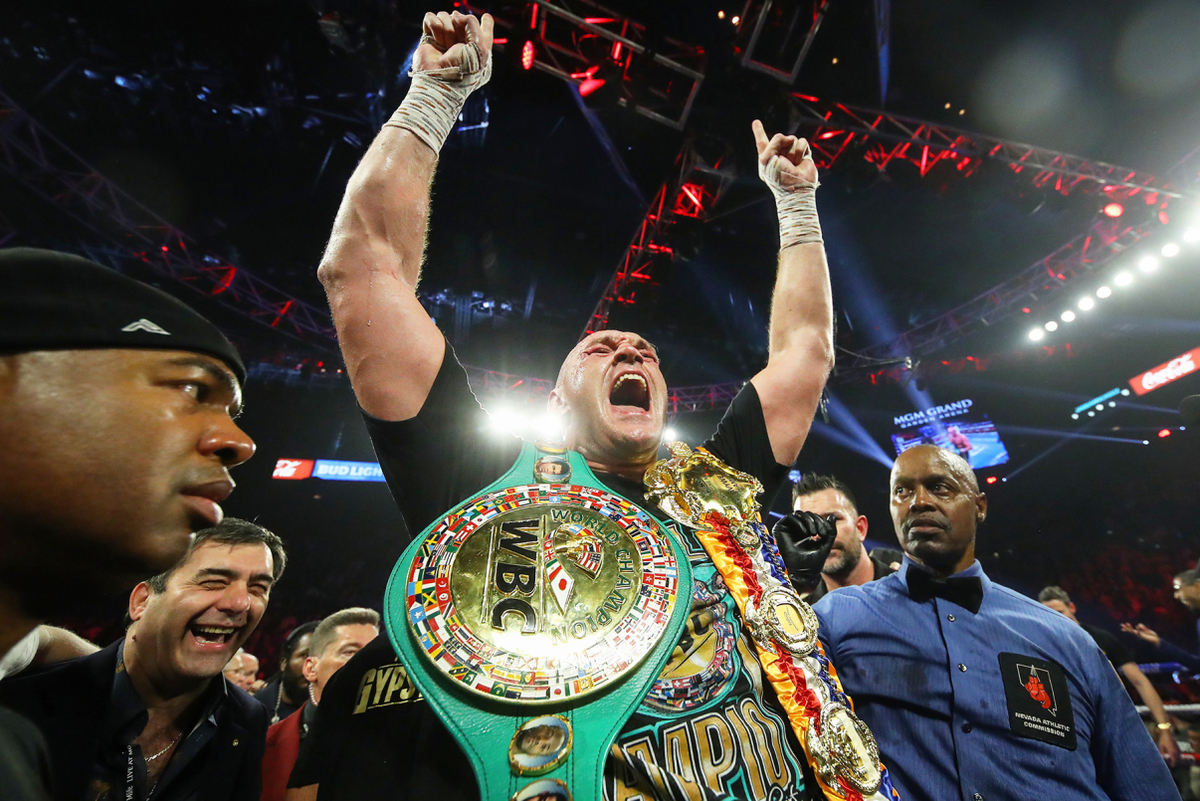 Tyson Fury celebrates his astonishing victory over Deontay Wilder (Mikey Williams/Top Rank)