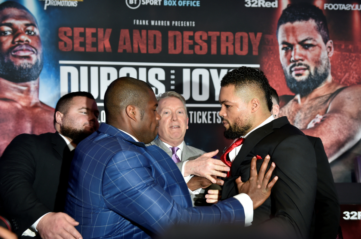 Dubois and Joyce will tussle for a quintet of belts
