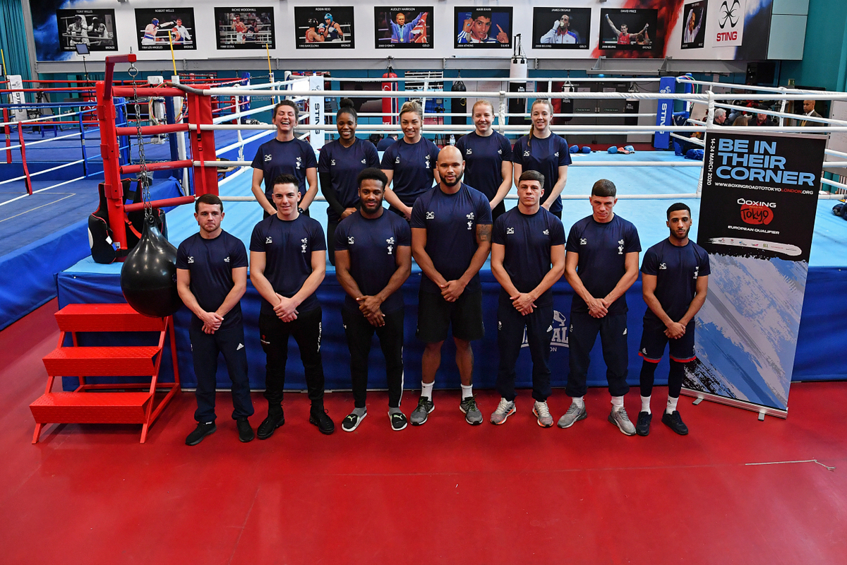 GB Boxing team for the European qualifier