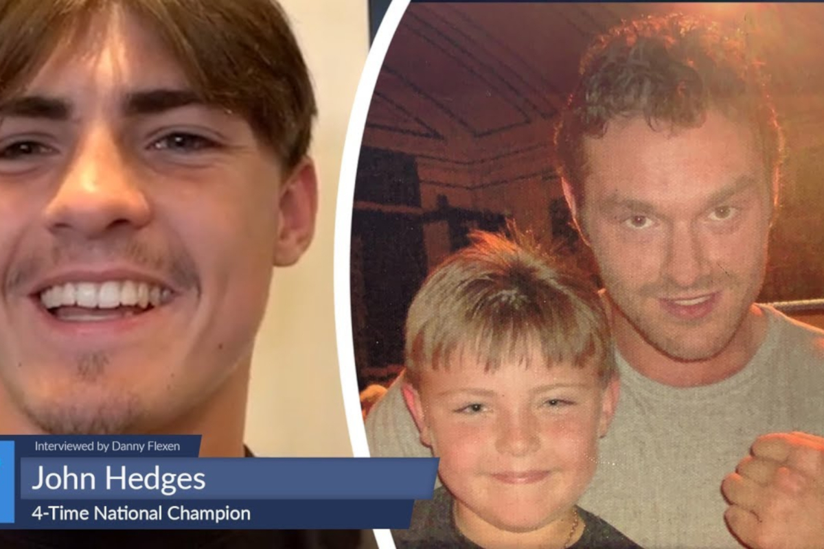 John Hedges (including, aged 10, with his hero Tyson Fury)