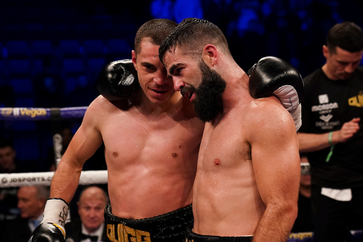 Scott Quigg after his final fight, with Jono Carroll (Dave Thompson/Matchroom Boxing)