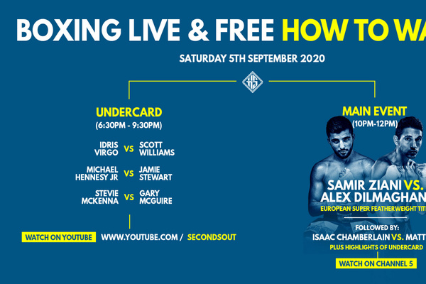 Samir Ziani vs Alex Dilmaghani live stream of undercard only on Seconds Out