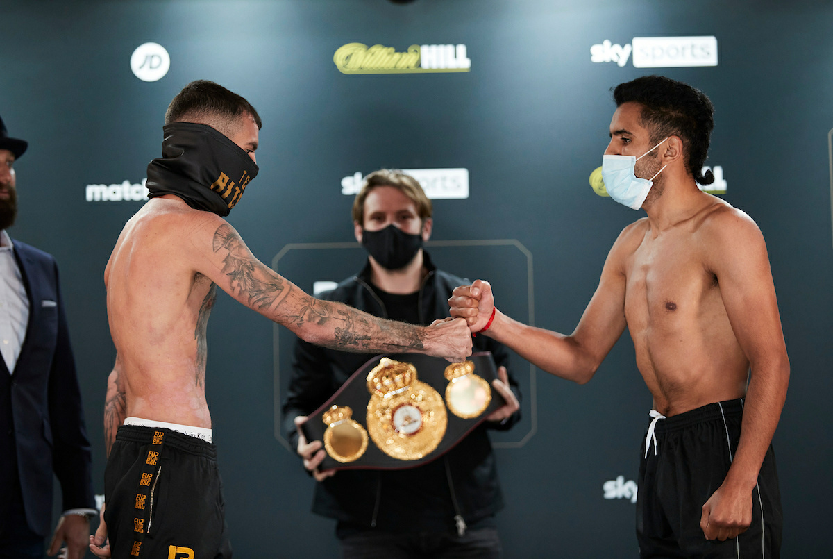 Lewis Ritson vs Miguel Vazquez weigh-in (Mark Robinson/Matchroom)