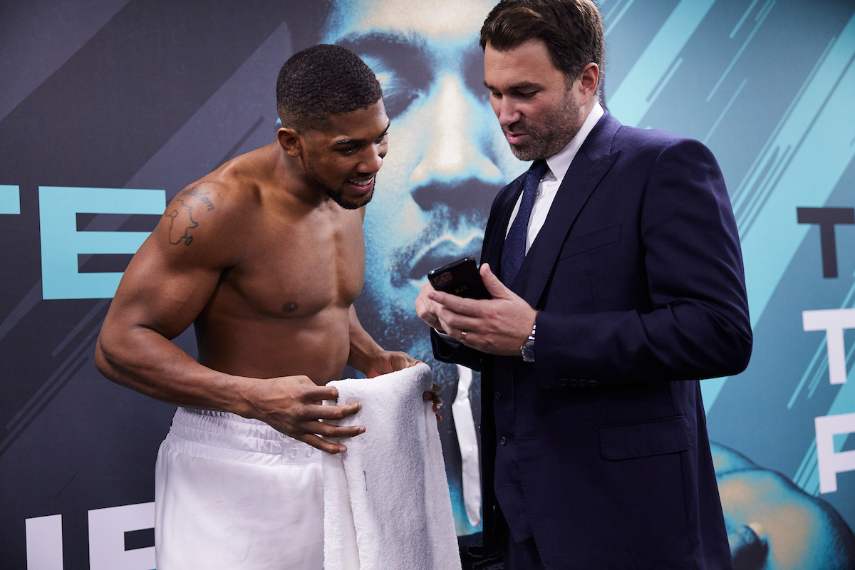 Eddie Hearn believes Anthony Joshua beats Tyson Fury (Mark Robinson/Matchroom)