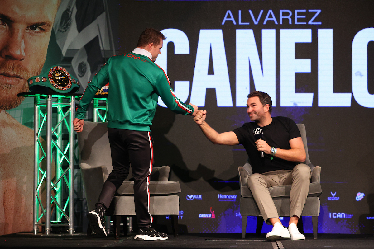 Canelo signs with Eddie Hearn for two fights (Ed Mulholland/Matchroom Boxing USA)