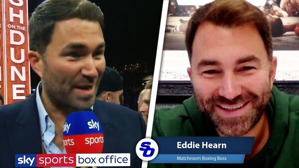 Eddie Hearn: SKY & DAZN FRONT-RUNNERS but OTHER PARTIES RIGHT UP THERE